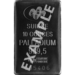 PALLADIUM BARS ASSORTED WEIGHT