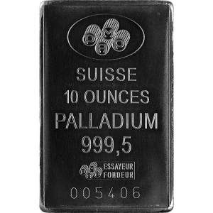 Palladium Bars 10 oz