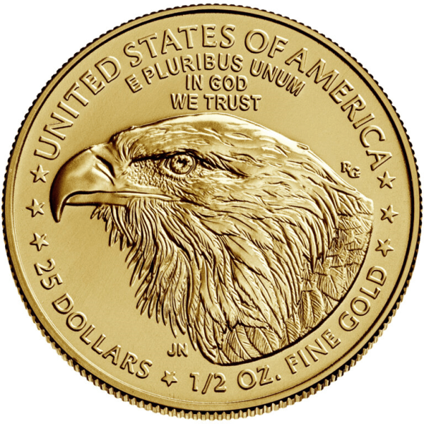 2021 ½ oz Gold American Eagle Coin Type 2